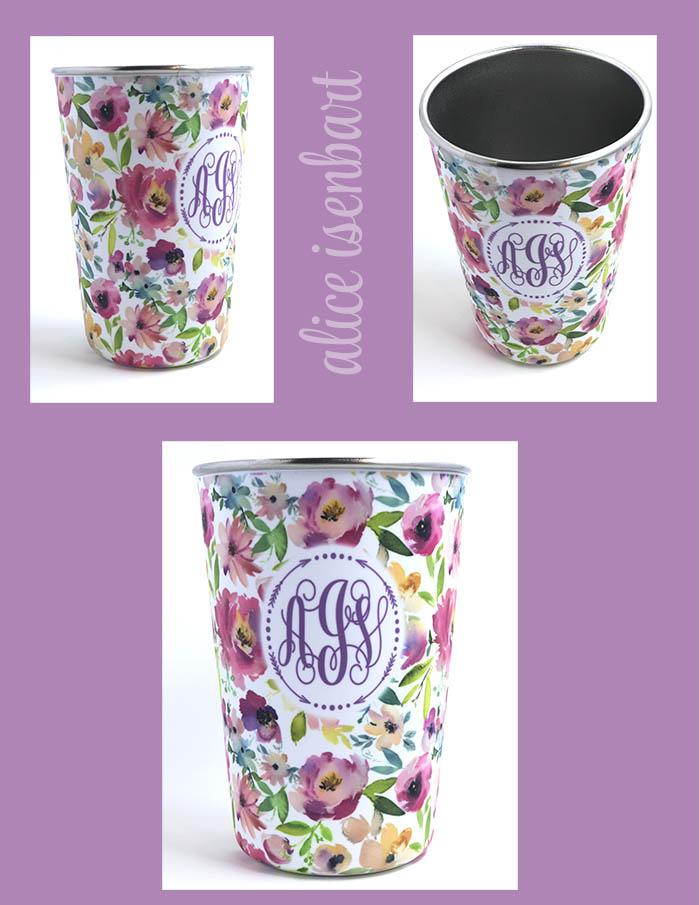Floral Pint Tumbler